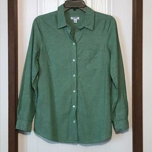 Old Navy Green Button Down Shirt Size S